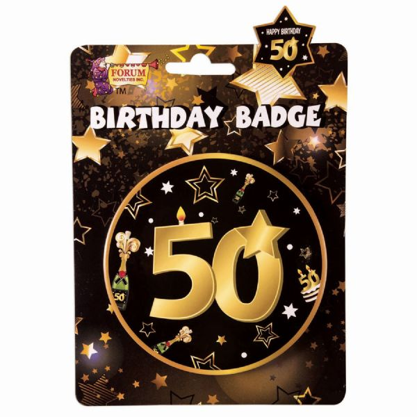 50th Birthday Badge